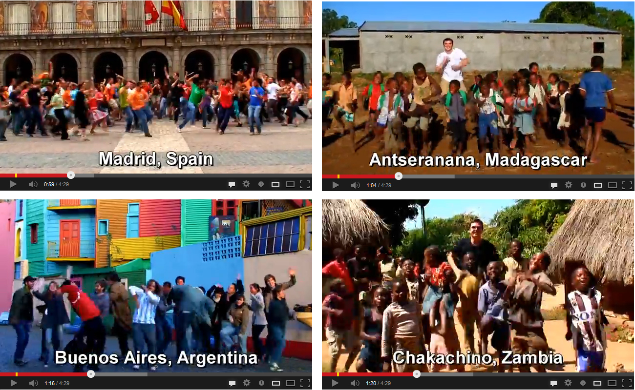 Matt Harding mobilizes hundreds of complete strangers worldwide to meet with him at specific locations and dance